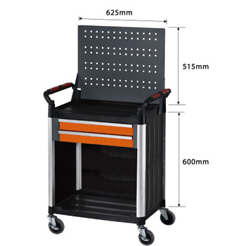 Mobile Tool trolley with hanging net