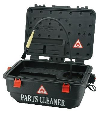 Mobile Parts Washer with Cleaning Brush