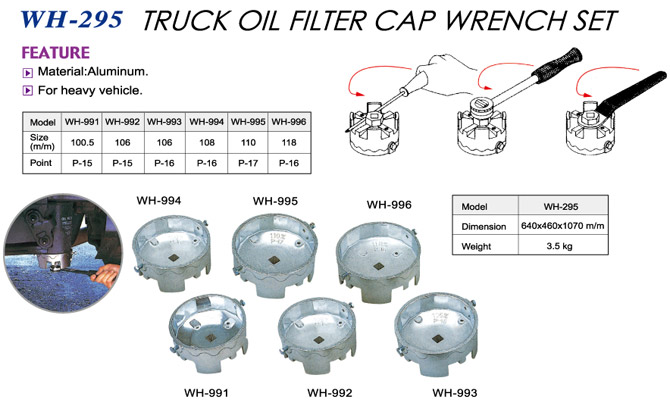 Truck Oil Filter Cap Wrench Set | Lih Yann Industrial CO , Ltd